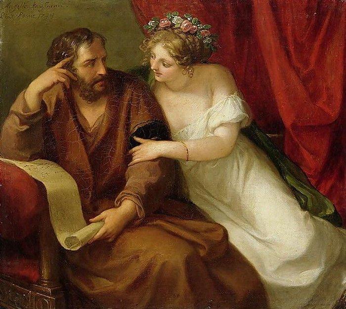 Фрина соблазняет философа Ксенократа, Анжелика Кауфманн, 1794